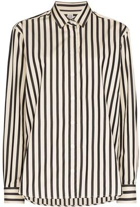 Totême Stripe-Pattern Long-Sleeve Blouse