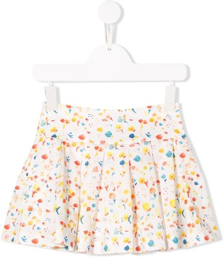Knot Floral Print Party Skirt