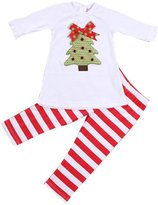 Susenstone 1Set Kids Toddler Girls Christmas Trees T-shirt Tops+Pants Outfits Clothes