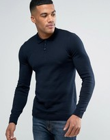 Asos Knitted Muscle Polo in Dark Navy