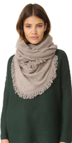 White + Warren Cashmere Triangle Fringe Scarf
