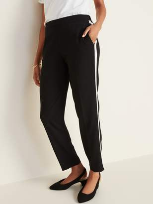 Old Navy Mid-Rise Side-Stripe Pull-On Straight Pants for Women