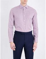Emmett London Slim-fit Gingham-print Cotton Shirt