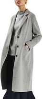 Topshop Women's Snap Button Three-Quarter Coat