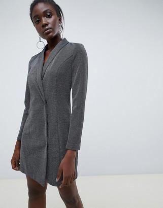 Vero Moda glitter blazer mini dress in black