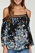 Love Stitch Lovestitch Printed Cold Shoulder