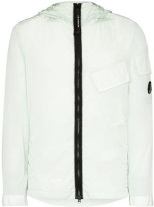 C.P. Company Hooded lightweight zip-up jacket