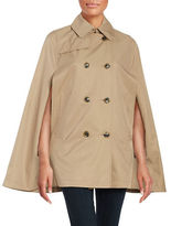 CeCe Double Breasted Trench Cape Coat