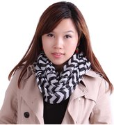HDE Womens Chevron Striped Infinity Scarf