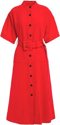Proenza Schouler Belted Woven Midi Shirt Dress
