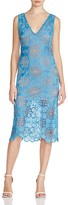Tracy Reese Embroidered Lace V-Neck Dress