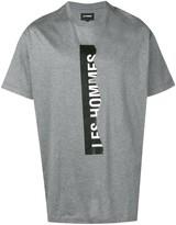 Les Hommes ripped logo T-shirt