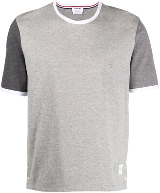 Thom Browne contrast-sleeve cotton T-shirt