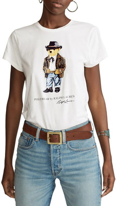 Polo Ralph Lauren Western Polo Bear Cotton Jersey Graphic Tee
