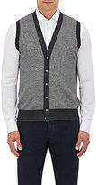Luciano Barbera Men's Cashmere-Silk Vest-GREY