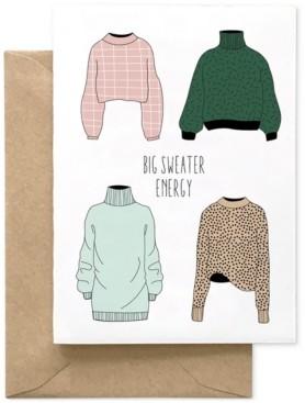 Spaghetti & Meatballs Big Sweater Energy Card