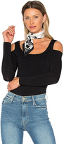 Central Park West Miami Cold Shoulder Bodysuit in Black. - size S (also in XS)
