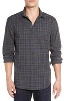 John Varvatos Men's Trim Fit Check Sport Shirt