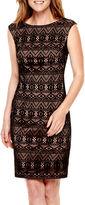 Evan Picone BLACK LABEL BY EVAN-PICONE Black Label by Evan-Picone Sleeveless Lace Sheath Dress
