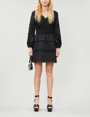 The Kooples V-neck cotton-blend mini dress