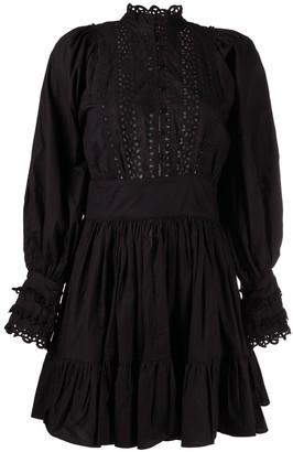 By Ti Mo Ruffled Mini Dress