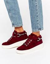 Carvela Linnet Nubuck High Top Flatform Sneakers