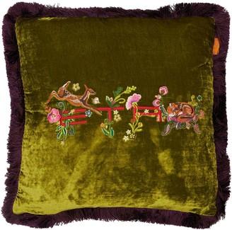 Etro Albaron Embroidered Pillow