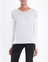 The White Company Colour-block knitted jumper