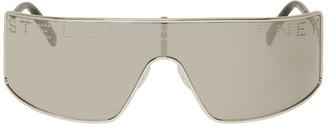 Stella McCartney Silver Logo Shield Sunglasses
