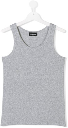 DSQUARED2 TEEN ribbed tank top
