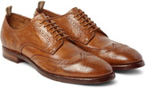 Officine Creative - Princeton Washed-leather Wingtip Brogues