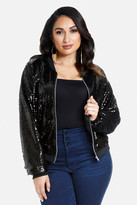 Fashion to Figure Athena Sequin Bomber Jacket