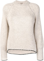 Nude chunky knit jumper