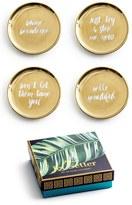 Rosanna Gold Trim Porcelain Coasters