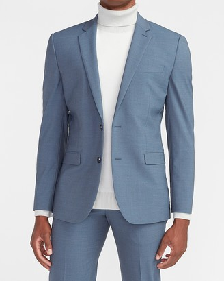 Express Extra Slim Dusty Blue Modern Tech Suit Jacket