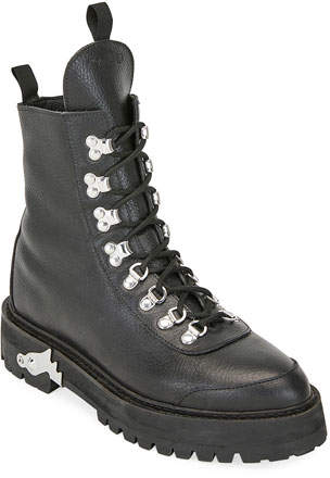 792210bcaee Leather Lace-Up Hiking Boots
