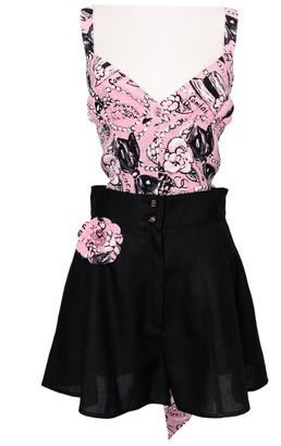 Chanel Pink Silk Jumpsuits