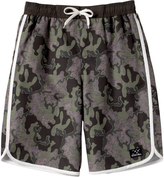 Big Chill Army Green Camo Board Shorts - Boys