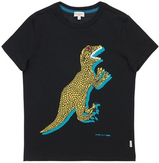 Paul Smith Dinosaur Print Cotton Jersey T-Shirt