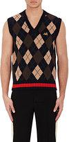 Gucci Men's Argyle Wool Vest