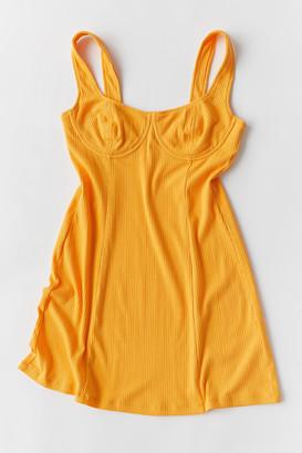 Line & Dot Honey Ribbed Mini Dress