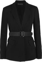 Donna Karan Essentials belted ponte-jersey blazer
