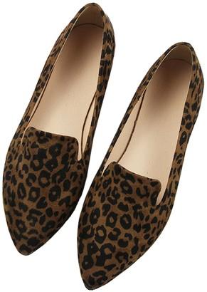 Goodnight Macaroon 'Laurel' Leopard Loafers