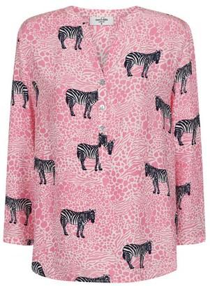 Mercy Delta - Stanford Silk Shirt Zebra - XS