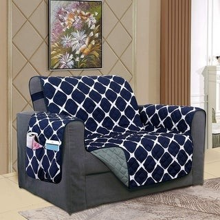 Elegant Comfort 2-Tone Bloomingdale Pattern Quilted Chair Furniture Protector