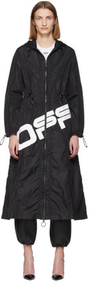 Off-White Off White Black Logo Coulisse Jacket