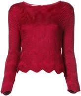 Oscar de la Renta herringbone print knit