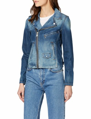 Schott NYC Women's Denim Perfecto Biker Jacket Bomber