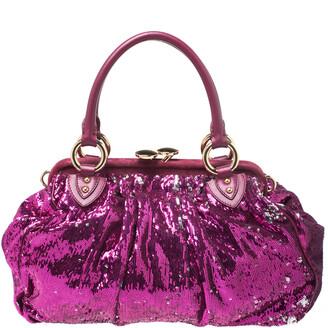 Marc Jacobs Fuchsia Sequin New York Rocker Stam Shoulder Bag