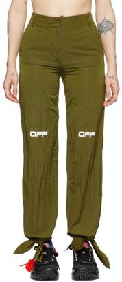 Off-White Green Nylon Bow Lounge Pants